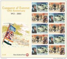 New Zealand 2013 Conquest Of Everest Anniversary Sheet MNH - New Zealand