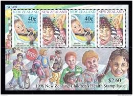 New Zealand 1996 Health Minisheet MNH - New Zealand