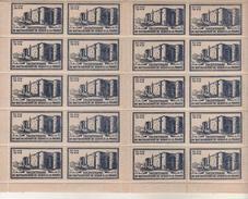 Planche De 20 Vignettes, Timbres - Tricentenaire Du Rattachement De SEDAN à La France - 27 Juin 1948 - Erinnophilie