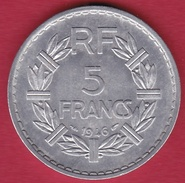 France 5 Francs Lavrillier Aluminium - 1946 - SUP - France
