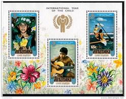Aitutaki 1979 International Year Of The Child Minisheet MNH - Aitutaki