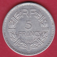 France 5 Francs Lavrillier Aluminium - 1946 B - France