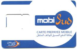 MAROC MOROCCO GSM SIM Card Mobi Sud Without Chip - Carte Support SIM - SIM-Karte Ohne Chip Tarjeta SIM Sin Chip