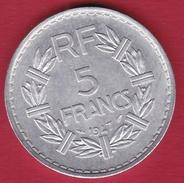 France 5 Francs Lavrillier Aluminium - 1947 - SUP - France