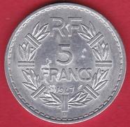 France 5 Francs Lavrillier Aluminium - 1947 B - SUP - France