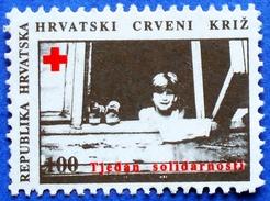 CROATIA CHARITY MNH STAMP 100 HRD 1993 RED CROSS SOLIDARITY - Croatie