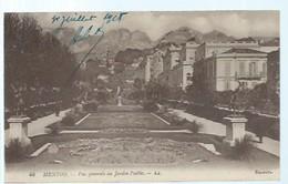 Alpes Maritimes - 06 - MENTON -  Vue Générale Sur  Le Jardin Public - Menton