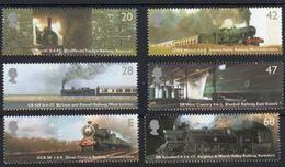 GROSSBRITANNIEN GRANDE BRETAGNE GB 2004 LOCOMOTIVES  SET OF 6 SG 2417-22 SC 2172-77 MI 2174-79 YV 2512-17