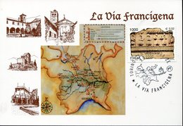 20330, Italia, Special Card And Postmark 2000 Torino,  La Via Francigena,  Chemin De Compostelle,frankenweg - Christianity