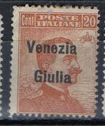 PIA - ITALIA - 1918-19 : Francobollo D'Italia Sovrastampato Venezia Giulia  - (SAS 23) - Occupation 1ère Guerre Mondiale