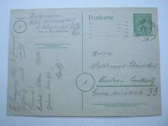 1945 , 5 Pfg. Bär , Ortskarte Mit Viel Text , Ganzsache Berlin - Zone Soviétique