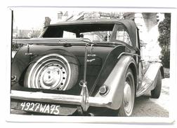 PHOTO AUTOMOBILE MORGAN DECAPOTABLE VUE ARRIEREE FORMAT 18/12 ORIGINALE NO COPY - Automobili