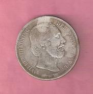 RIJKSDAALDER 2 1/2 GULDEN 1863 WILLEM III MOEILIJKSTE JAAR  NASLAG - [ 3] 1815-… : Royaume Des Pays-Bas
