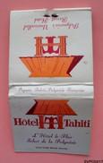 Pochette Allumettes - HOTEL TAHITI - PAPEETE POLYNESIE FRANCAISE