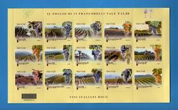 Italia **- 2014 - Foglietto  Vini  DOCG.   Vedi Descrizione - 2011-...: Neufs