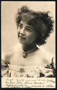 A2123 - Altes Foto - Vintage Mode - Hübsche Junge Frau - Porträt - Frisur  Schmuck - Gel 1905 - Mode