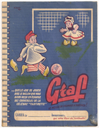Protège Cahier Graf Tartinette Fromage Football Ballon. Vers 1950-60 - Protège-cahiers