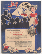 Protège Cahier Fromage Mère Picon Haute Savoir. Cinémagic Mickey. Vers 1950-60 - Protège-cahiers