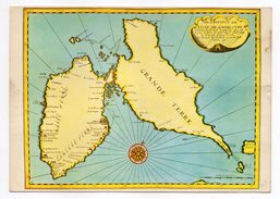 Guadeloupe--1ère Carte Géographique De L'ile  Cpm N° S 085 éd Images Caraibes - Guadeloupe