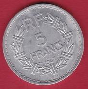 France 5 Francs Lavrillier Aluminium - 1947 B - France