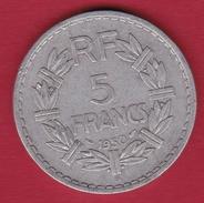 France 5 Francs Lavrillier Aluminium - 1950 B - France