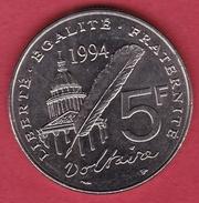 France 5 Francs Voltaire 1994 - France