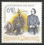 Austria - 1998 Hans Kudlich 6.50s MNH **          Sc 1770