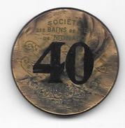 Ancien Jeton De Casino De 40 Francs Société Des Bains De Mer De Monte Carlo - Monaco (ficha) - Casino