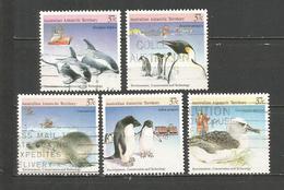 AUSTRALIA TERRITORIO ANTARTICO YVERT NUM. 79/83 SERIE COMPLETA USADA - Australian Antarctic Territory (AAT)