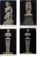 4 CARTES MOULAGES PIERRE AGGLOMEREE AVEC PUB AU DOS - Sculptures