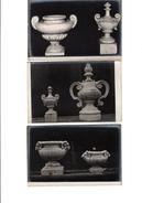 3 CARTES MOULAGES PIERRE AGGLOMEREE AVEC PUB AU DOS - Sculptures