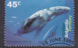 Australian Antarctic Territory  S 104 1995 Whales And Dolphins 45c Humpback Whale Used