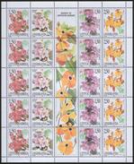 Yugoslavia 1997 Flowers - Flora Sheet Of 5 Sets, MNH (**) Michel 2827-2830 - Blocks & Kleinbögen