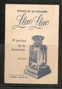 Ancien Calendrier De Propagande  - 1948 - DE PARFUM LLAO-LLAO - Fragrances