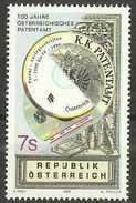 Austria - 1999 Patent Office 7s MNH **       Sc 1781