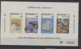 Uruguay 1983 Car Voiture Paintings Peintures - Cars