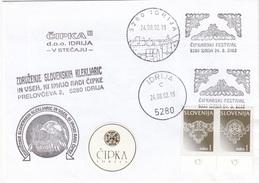 Slovenia, Lace Embroidery Festival In Idrija 2002 Special Cover & Pmk B170330 - Textiel