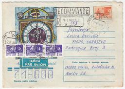 Russia Illustrated Postal Stationery Letter Cover Travelled Registered 1976 Vilnius To Sarajevo B170328