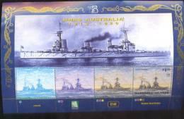 MARSHALL ISLANDS   703  MINT NEVER HINGED MINI SHEET OF SHIPS ; HMAS AUSTRALIA WORLD STAMP'99 - Schiffe