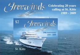 ST.KITTS   726  MINT NEVER HINGED SOUVENIR SHEET OF SHIPS    (  0904 - Boten