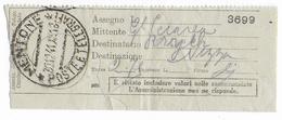 1941 - OCCUPATION ITALIENNE En FRANCE - RARE RECU De DEPOT De RECOMMANDE De MENTON => NICE - Poststempel (Briefe)