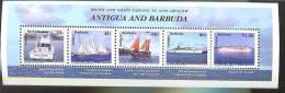 ANTIGUA  & BARBUDA   2286 A MINT NEVER HINGED MINI SHEET OF SHIPS  ; BOATS - Schiffe