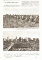 LES MONUMENTS PREHISTORIQUES DE CARNAC  1887 - Bretagne