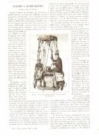 ASCENSION à GRANDE HAUTEUR  ( AEROSTAT ) De MM. JOVIS Et MALLET    1887 - Transportation