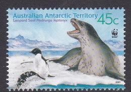 Australian Antarctic Territory S 146  2001 Leopard Seals 45c Bull On Ice Used - Territoire Antarctique Australien (AAT)