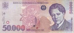ROUMANIE   50,000 Lei   1996   P. 109a - Romania