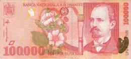 ROUMANIE   100,000 Lei   1998   P. 110 - Romania