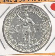 Leopold III 50 Frank Zilver Wereldtentoonstelling 1935 Franstalig ZEER FRAAI + En PRACHTIG - M442a - 08. 50 Francos