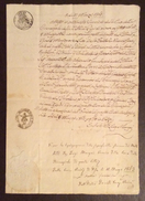PISA CURIA ARCIVESCOVILE MANOSCRITTO IN BOLLO CON SIGILLO E FIRMA DEL VESCOVO  IN DATA 11/3/1863 - Manoscritti