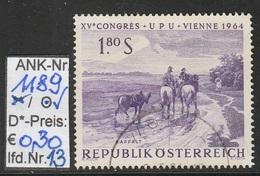 """15.6.1964  -  SM A. Satz  """"XV. Weltpostkongreß (UPU) Wien 1964""""  -  O  Gestempelt  -  Siehe Scan  (1189o 13) - 1945-.... 2de Republiek"""